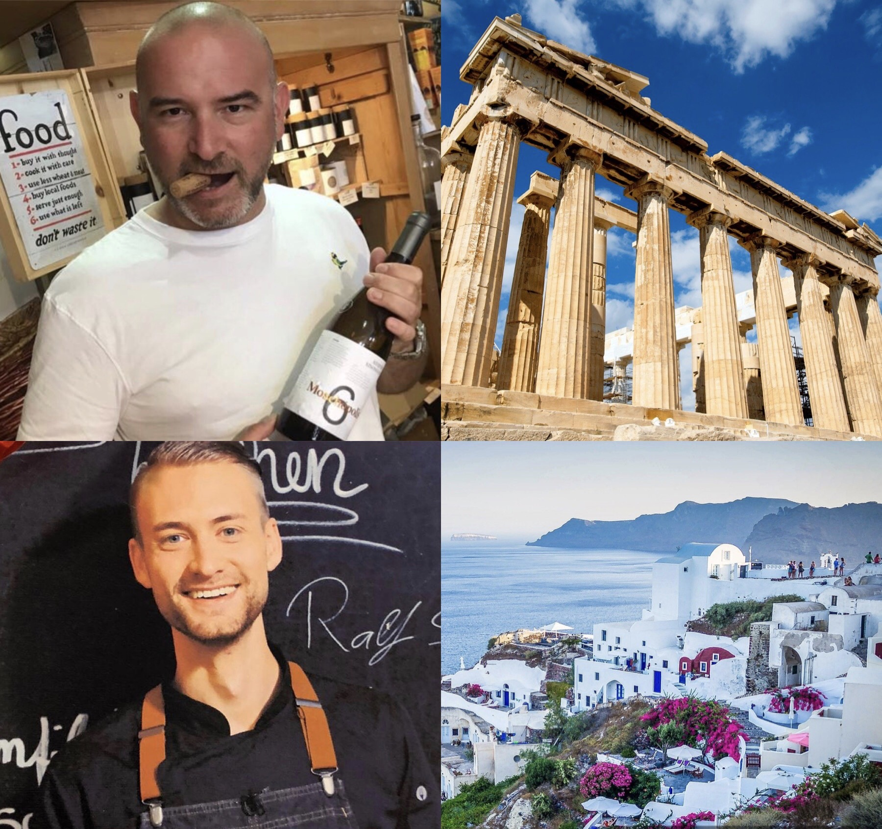 Griechische Weine und Gerichte