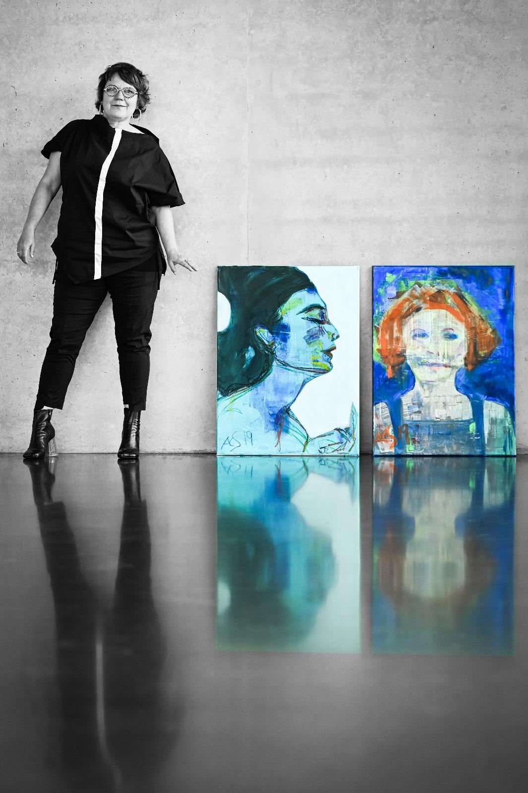 Künstlerin Anne-Claire Schroeder-Rose