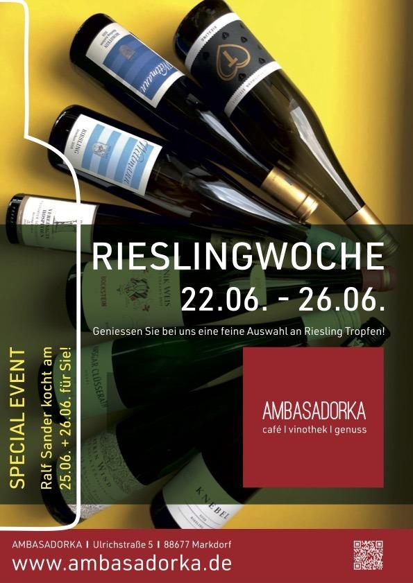 Riesling-Woche im AMBASADORKA vom 22.-26.06.21