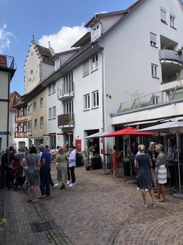 Stehempfang fuer Hochzeitsgesellschaft in Markdorf
